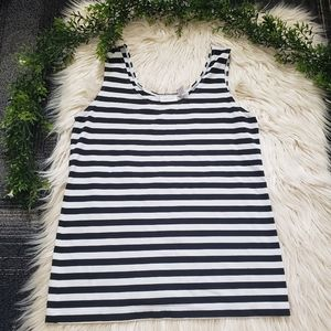 CHICO'S black and white striped tank top 1